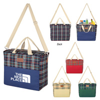 Tartan Cooler Bag With Fleece Blanket
